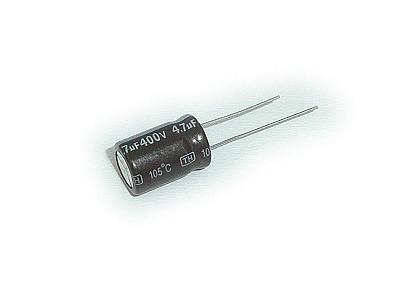ELKO 4.7uF 400V 105°C 10x16 Low-ESR álló 4.7/400P-105ESR