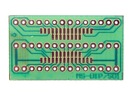 FR4 Multiadapter panel DIP/SO 14p...28p. PP-SMD-DIP01