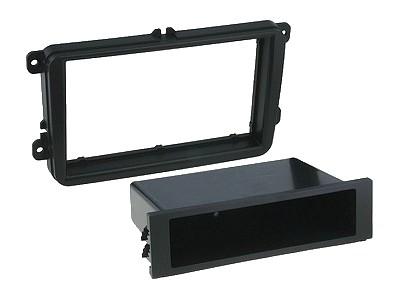 Beépítő keret, 2 DIN SEAT, SKODA, WW fekete CAR-BOX40.261.1