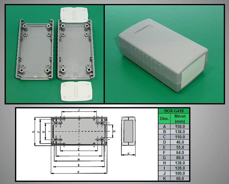 Project Box 150x80x60mm IP54 BOX G418 -