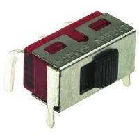 Toló kapcsoló PCB 1x3p.12.7x6.6mm (1 áramkörös) SW18002PH1 -
