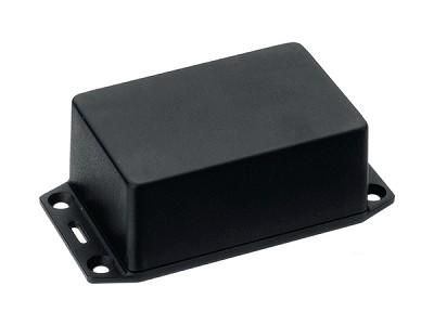 Univerzális műanyag doboz 87x57x40.5mm, fekete, IP54, rögztő füles BOX HM1591XXLFLBK