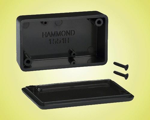 UNIVERSAL BOX 60x35x17mm fekete BOX HM1551HBK -