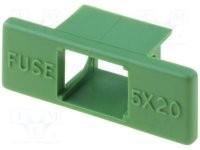 Műanyag biztosíték tartó, 5x20 burkolat ZH1-1G COVER