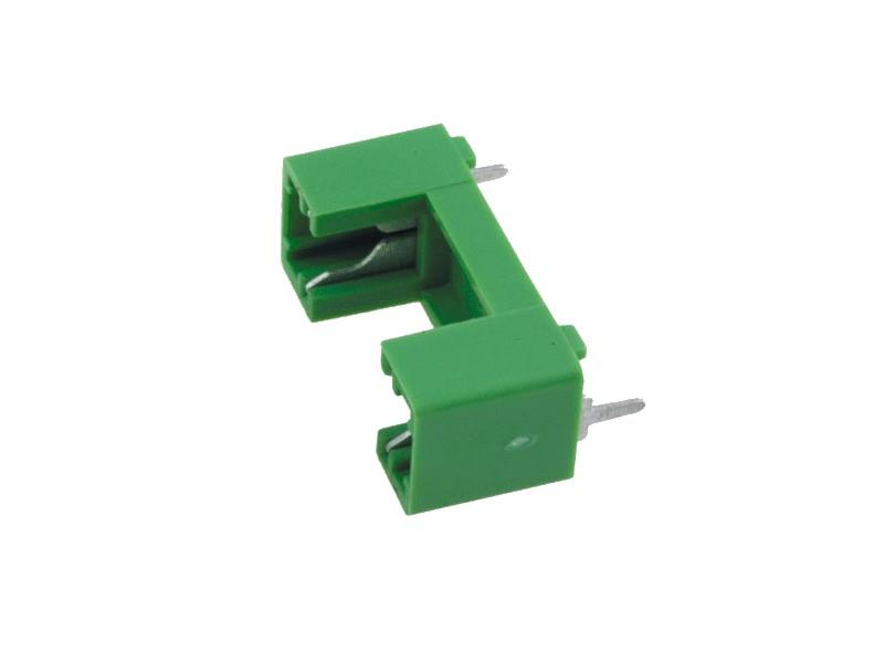 Műanyag biztosíték tartó, 5x20 nyákos 22,6mm lábtáv, ZH1-22G