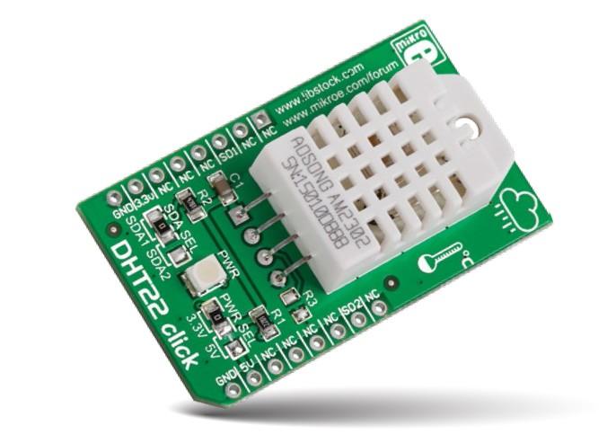 Páratartalom és hőmérséklet érzékelő bővítőkártya CLICK MIKROE-1798 KIT MIKROE-1798