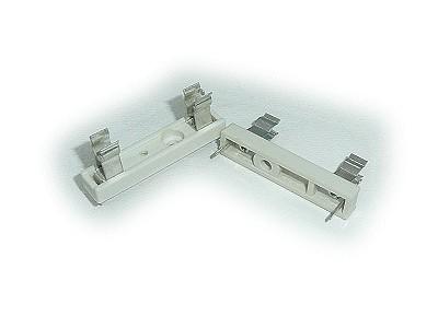 Műanyag biztosíték tartó, 6,3x32mm Nyákos ZH1/6.3