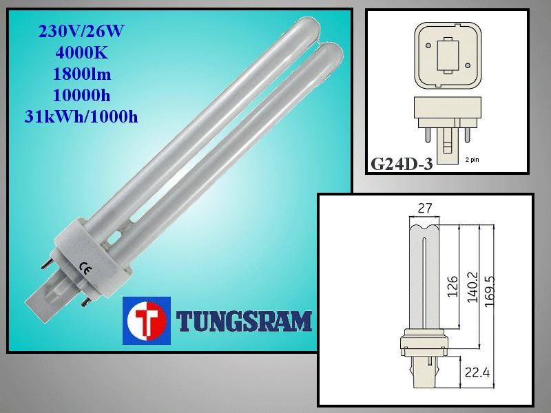 Kompakt fénycső 26W FD-D26 F84 LAMP E99/26-840 -