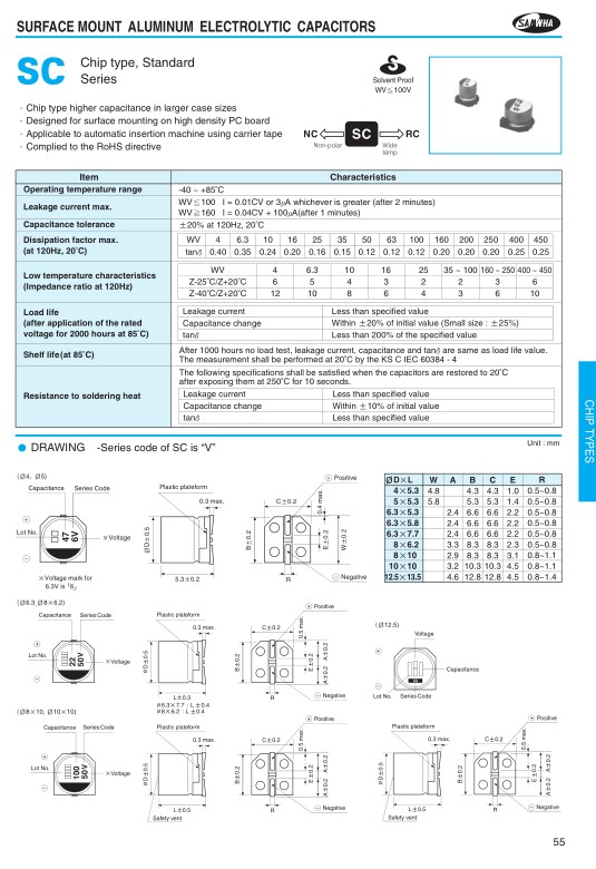 ELKO 100uF 35V 85°C SMD6.3 100/35SMD