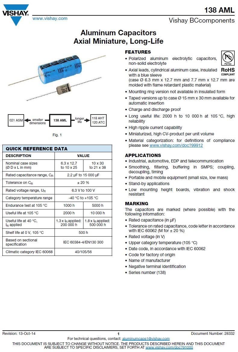 ELKO 330uF 100V 105°C 18x30 fekvő 330/100A-105