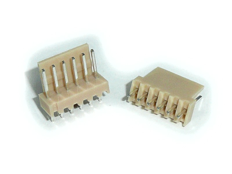 Egysoros csatlakozó aljzat, egyenes 6p. lábtáv. 2.54mm CSAT-10061/A