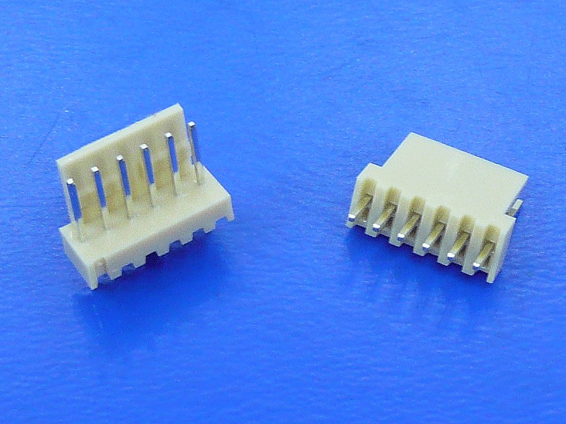 Egysoros csatlakozó aljzat, egyenes 6p. lábtáv. 2.54mm CSAT-10061/A -