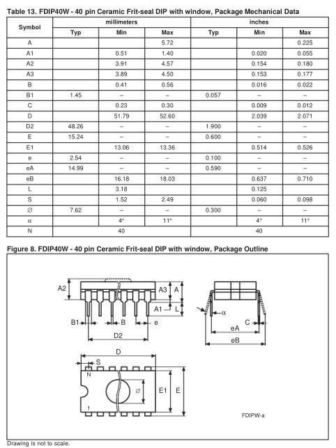 C-UV-EPROM 256Kx16 100nS 40p. 27C4002-100 -