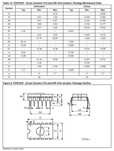 C-UV EPROM 128Kx8 120ns 32p. 27C1000-120 -