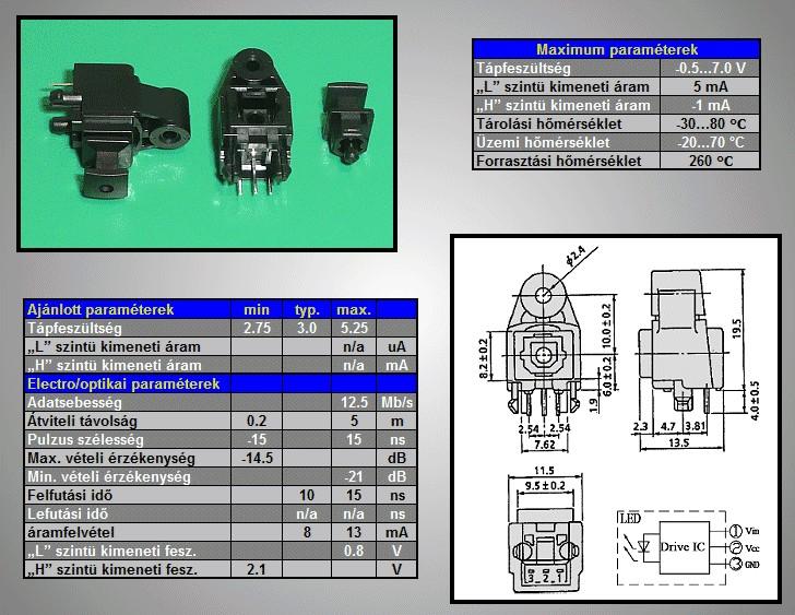 Toslink aljzat, optikai vevő FCR6842031R