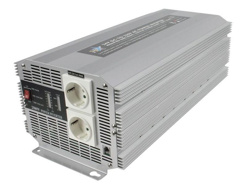 24VDC -> 230VAC 2500W inverter (trapéz) P.SUP.INV2500W2