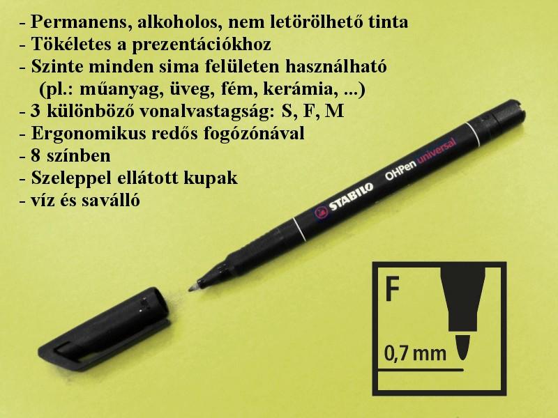 Nyák toll 0.7mm OHP Saválló PPE-PEN003/0.7 -