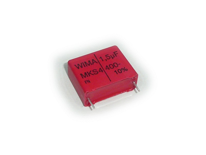 Kondenzátor 1,5uF 400V 10% RM-27.5 Polyester WIMA C 1U5 400/MKS/W