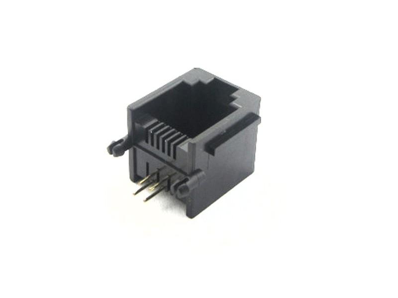 Telefon aljzat RJ12 6/6 MAXI műanyag fekete CSAT-T013/B