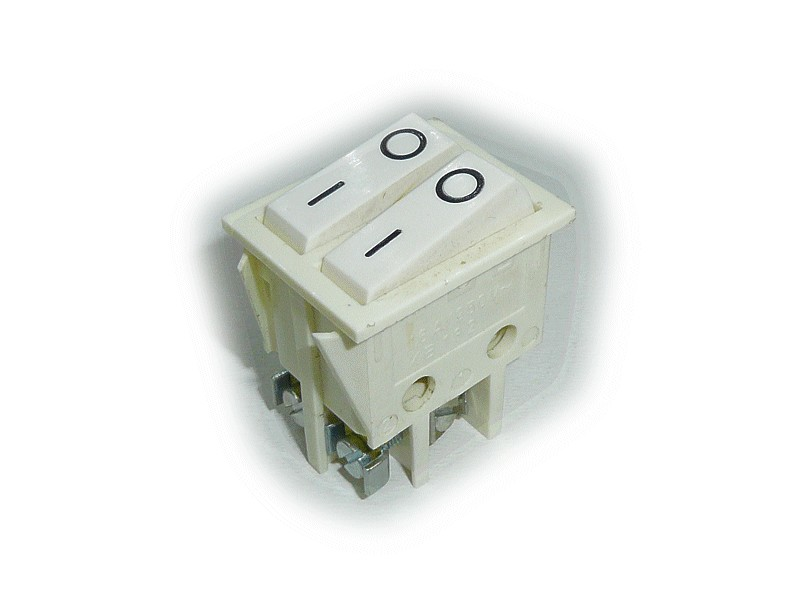 Billenő csontszínű, 2x1 áramkörös I/O 16A 250V (4p csavaros) SW2230/CS