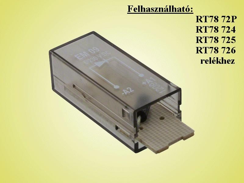 Relé Védődióda. biztosító modul 9-1415036-1 RELAY-D/PTMT00A0 -