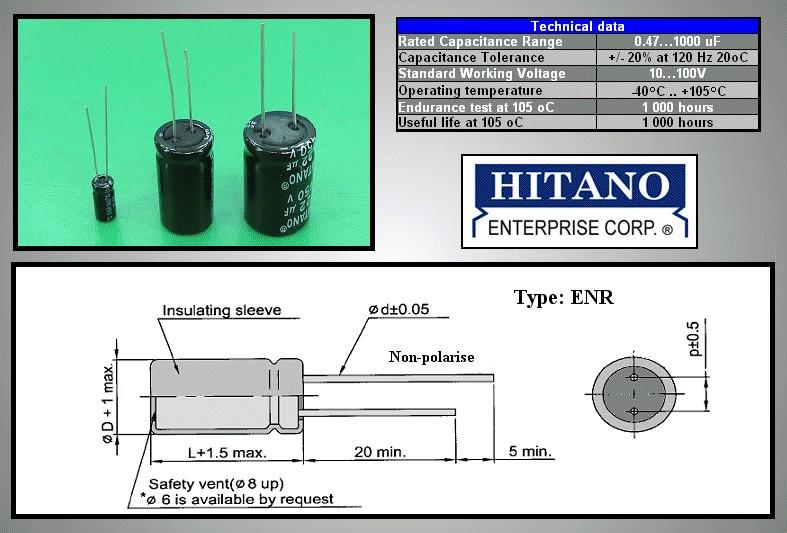 ELKO 22uF 100V 105°C BIPOLAR 10x16 álló 22/100BP-105 H -