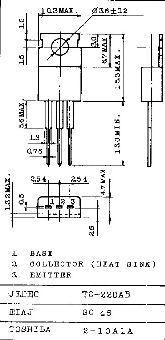 SI-P 150V 1.5A 25W 4MHz TO-220 2SA940 -