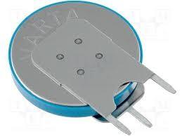 3V 280mAh lítium elem VERT. 3p. (forrasztható) BAT CR2430V
