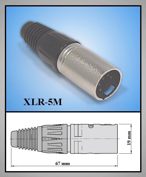 XLR dugó 5p. (lengő) XLR-5M