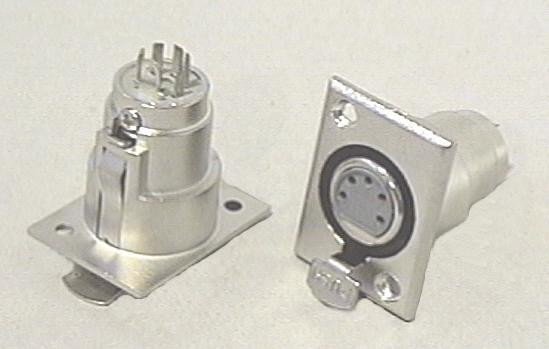 XLR aljzat 5p. (beépíthető) XLR-5FC