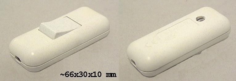 2 pólusú billenő kapcsoló feh.feh SW2321/W