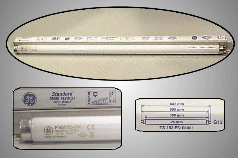 26x60 Fénycső POLYLUX 18W/F840 (93019906) LAMP 006060/18C