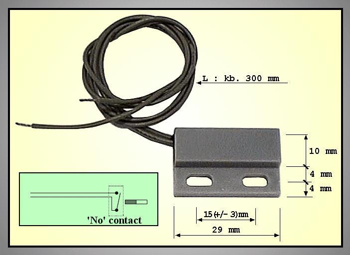 REED SENSOR 29mm (mágneses) REED SENS003