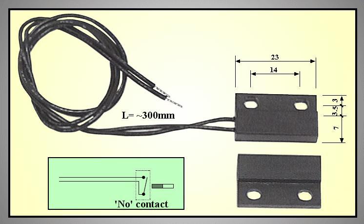REED SENSOR 23mm (mágneses) REED SENS002
