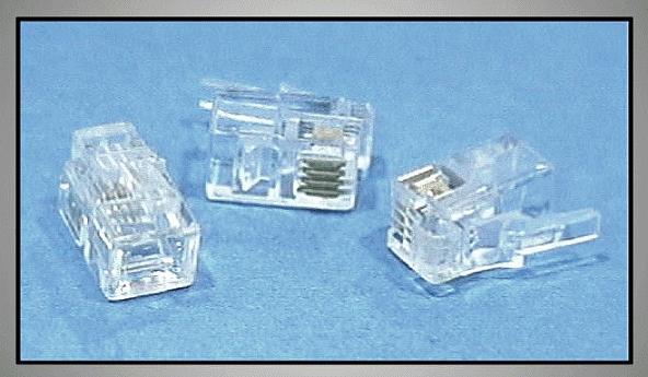 Telefon dugó 4/4 (RJ9) Mini (lapos kábelhez) CSAT-T001 F
