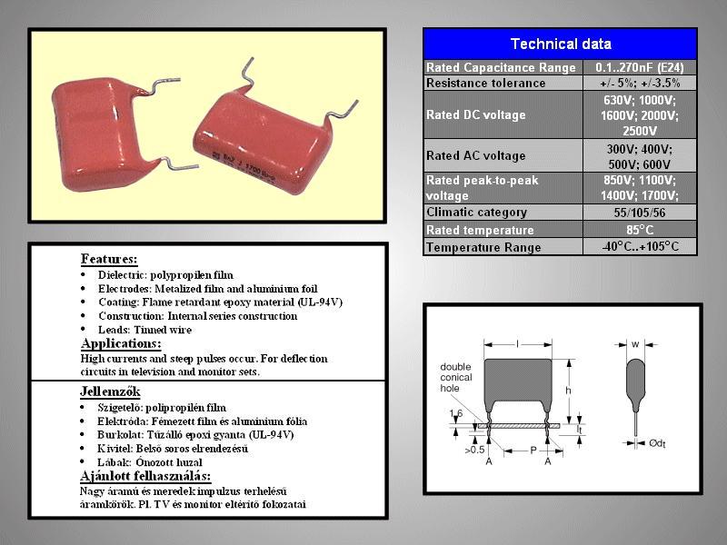 Kondenzátor 3.3nF 2000V 5% C-Film C 3N3 2000/PPF