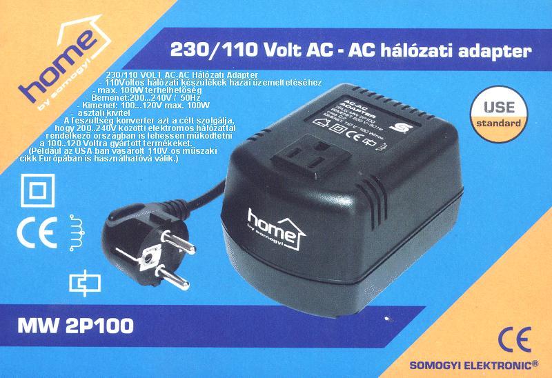 230VAC adapter 115VAC 100W P.SUP.A230/100A