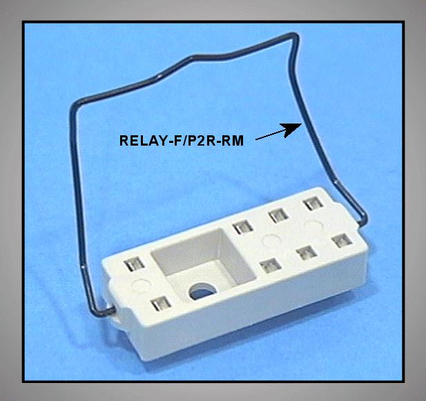 RELÉ PCB foglalat fém rugó RELAY-F/P2R-RM