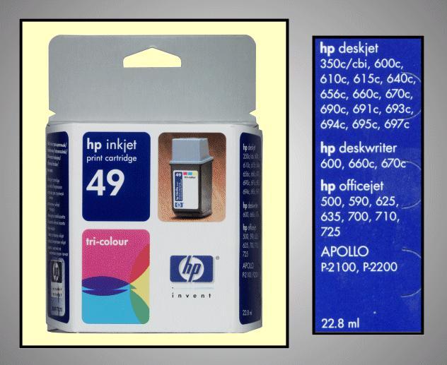 Tintapatron: HP C51649AE I000261