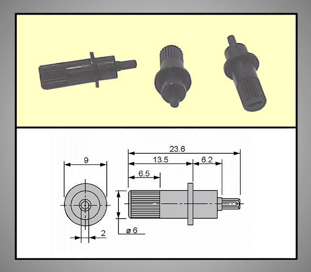 TRIMMER forgatógomb 2mm 3.9/23.6mm TRIM-KNOB-MA6