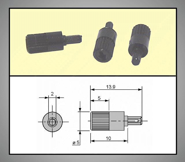 TRIMMER forgatógomb 2mm 3.9/13.9mm TRIM-KNOB-MA5