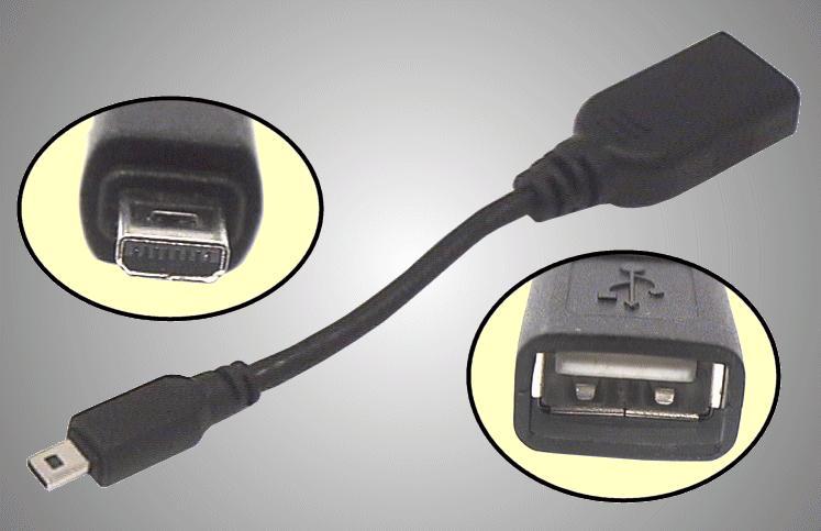 Mini USB-8.dugó --- USB aljzat YP-T8 CABLE-089