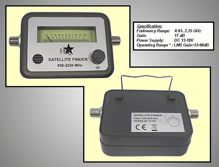 SAT-jelerősség mérő 950-2250MH SAT-FINDER-KIT