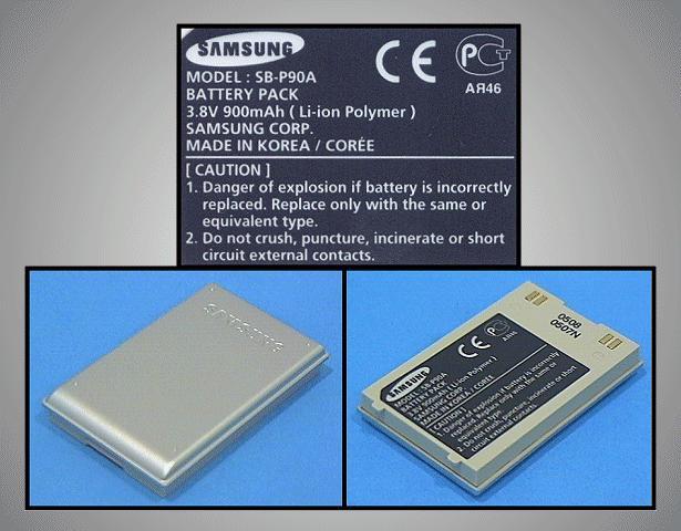 Kamera akkumulátor 3.8V 900mAhSB-P90ASL CAMC.019/09-S