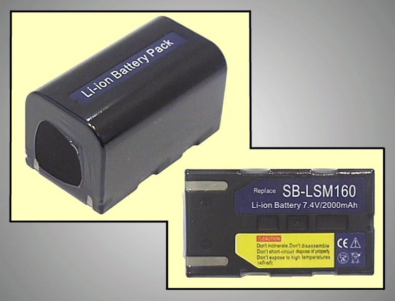 Kamera akkumulátor 7.4V 1.6Ah SB-LSM160 CAMC.018/1