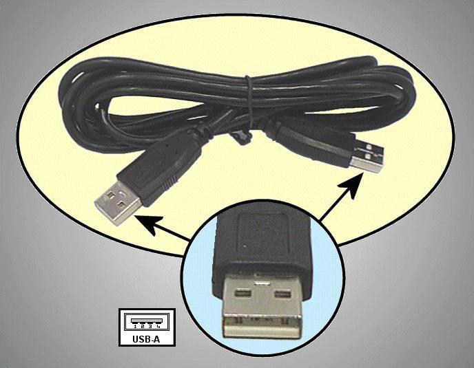USB2-A dugó <-> USB2-A dugó, kábel: 2m CABLE USB-AAH/2