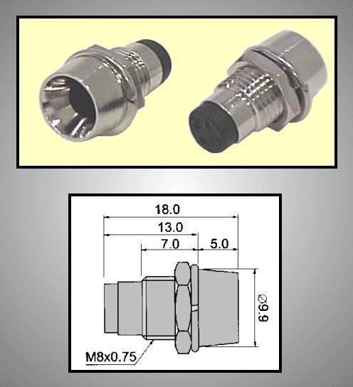 LED foglalat 5mm, krómozott RTM-5021