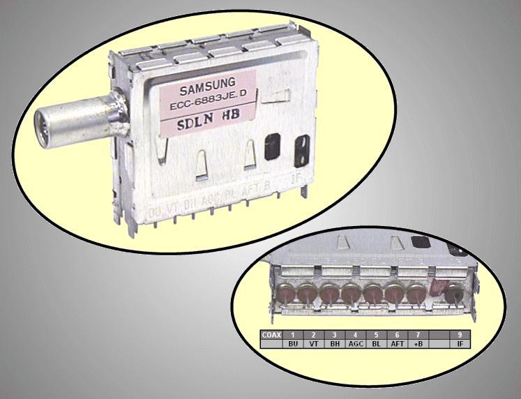 TV TUNER VHF/UHF ECC-6883JE.D TUNER 036