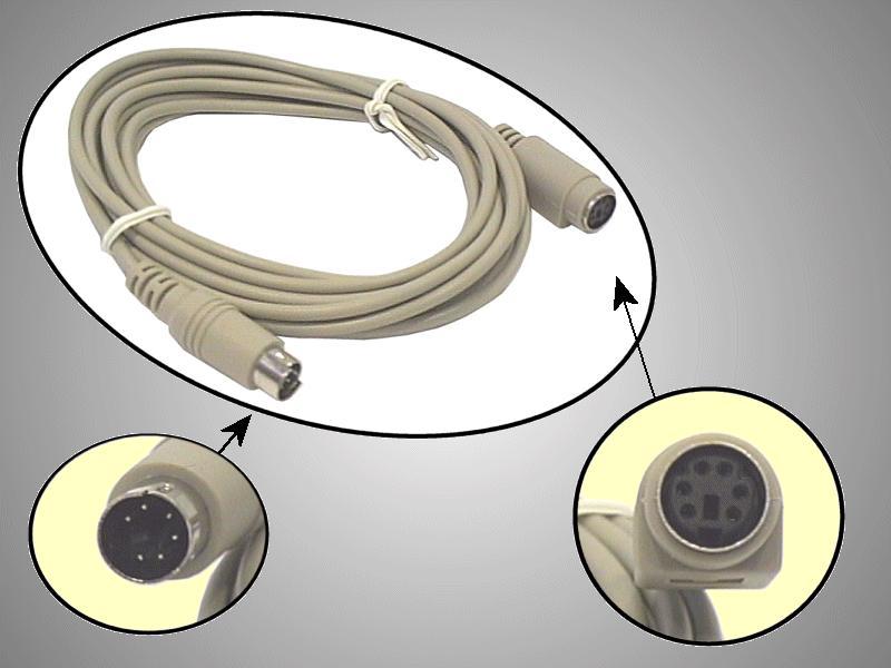 Kábel PS/2---BILL. hosszabbító 3.0m I11310-3.0
