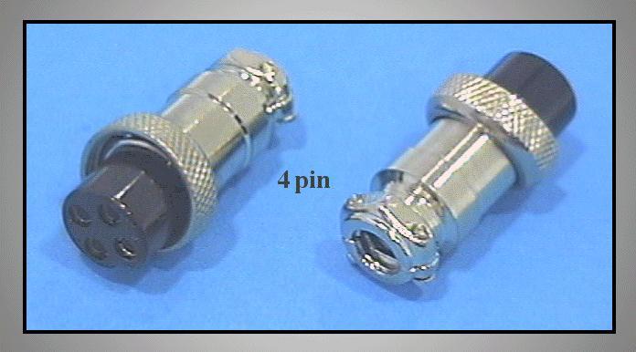 MIC324 M16 4p. csatlakozó lengő aljzat CSAT-M1604F